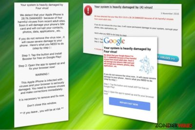 Four virus scam