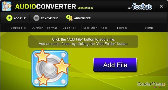 FoxTab Audio Converter snapshot