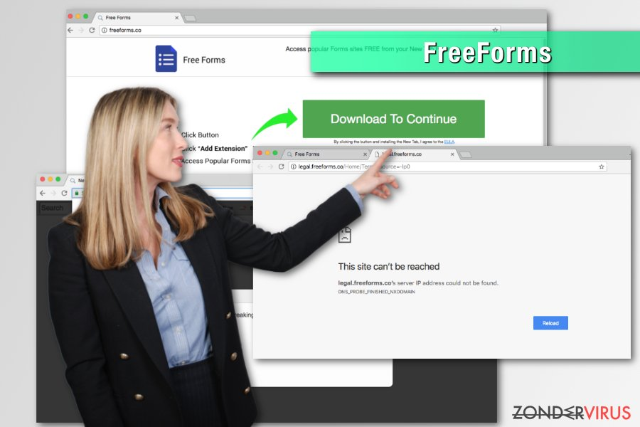 De FreeForms browser hijacker