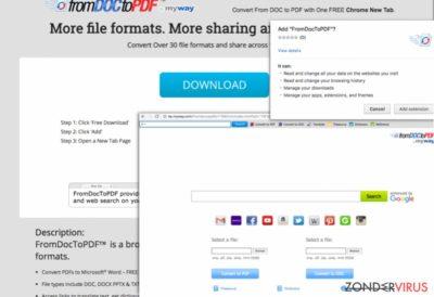 Screenshot van 'From Doc to PDF Toolbar'
