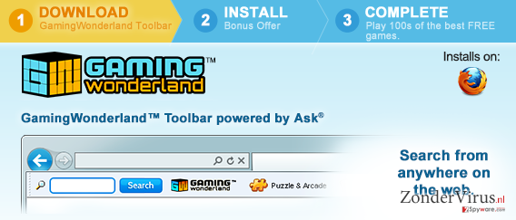 Gaming Wonderland Werkbalk snapshot
