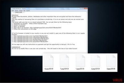 De losgeldbrief van de GandCrab-gijzelsoftware
