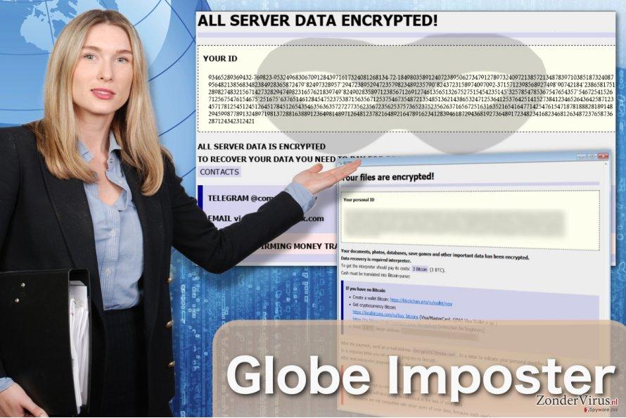 Afbeelding van het Globe Imposter-virus