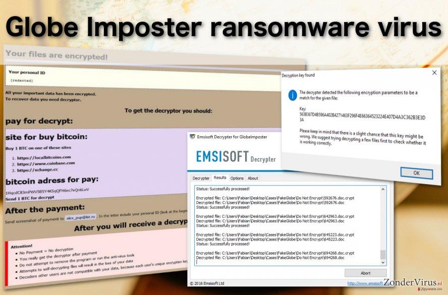 Globe Imposter-virus