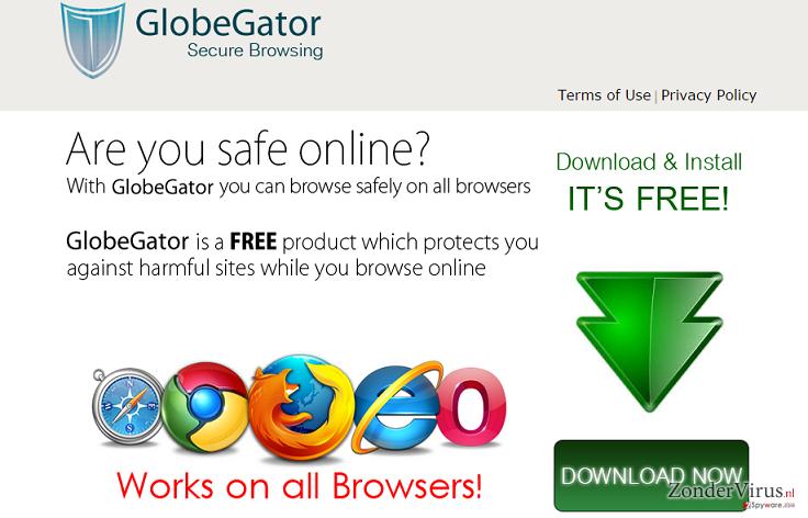 GlobeGator advertenties snapshot
