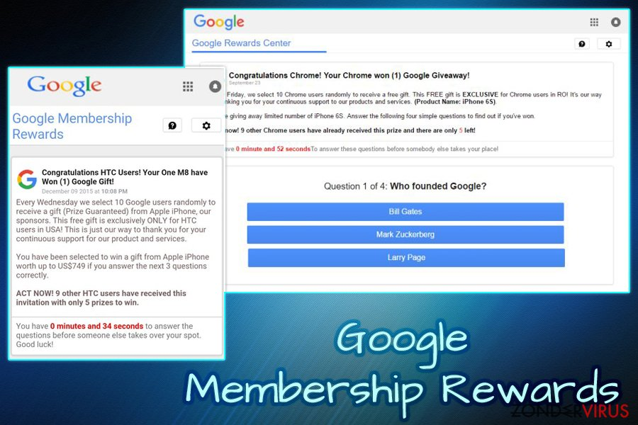 Het Google Membership Reward virus