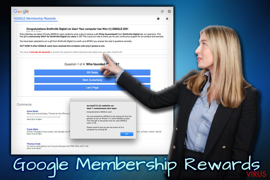 De Google Membership Reward enquête scam