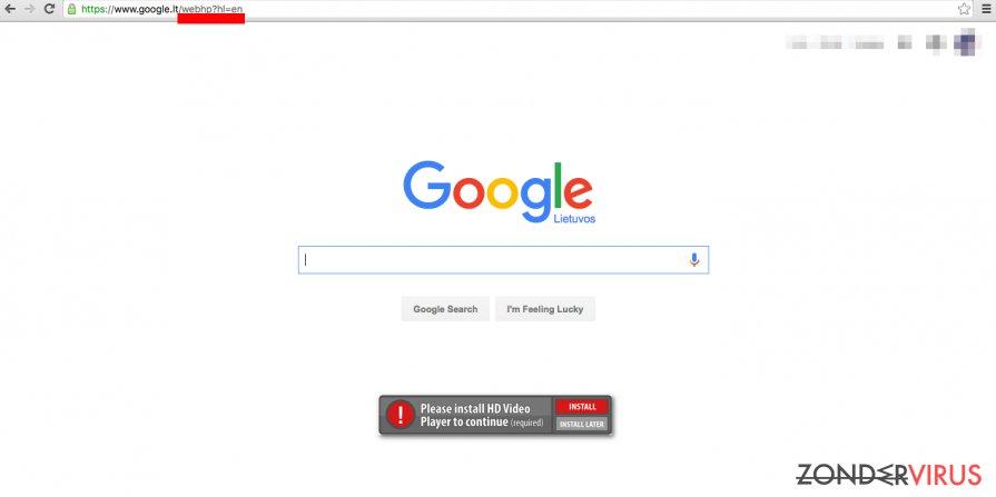 Het Google WebHP-virus installeert een nep-zoekmachine als startpagina