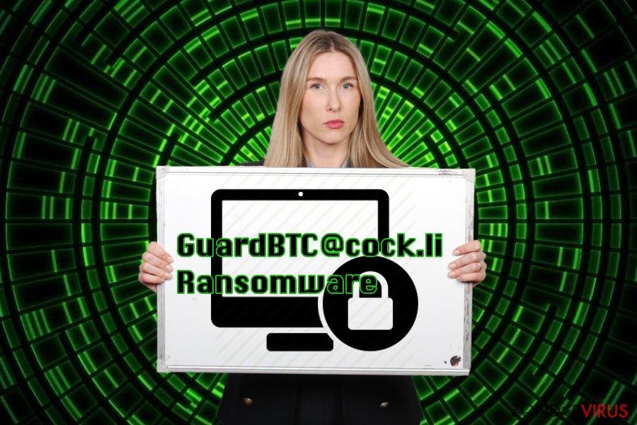 Voorstellen van het GuardBTC@cock.li virus