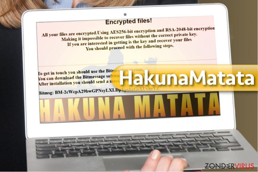 HakunaMatata gijzelsoftware-virus snapshot
