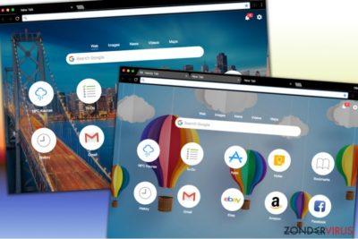 Verschillende ontwerpen van de Handy-Tab.com-zoeksite