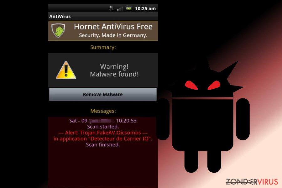 Android virus snapshot