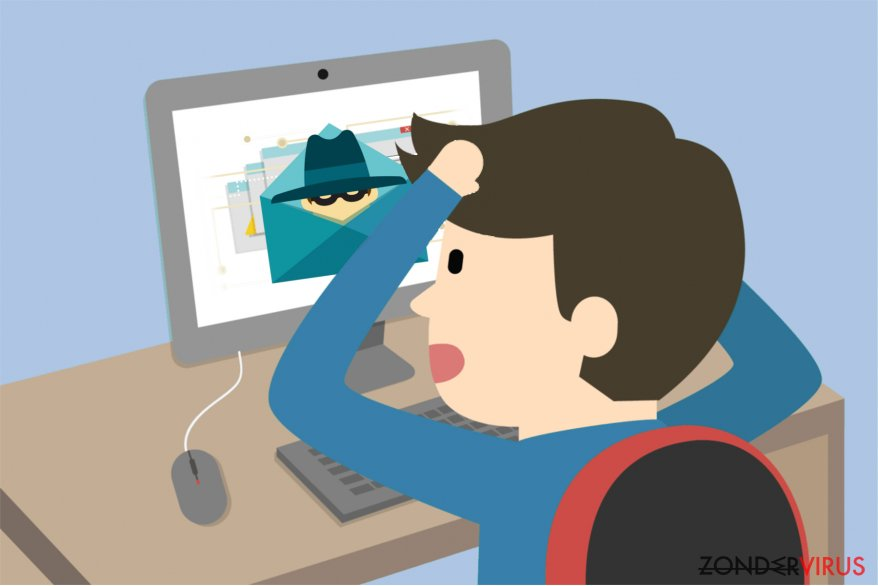 Illustratie van het Idle Buddy-virus
