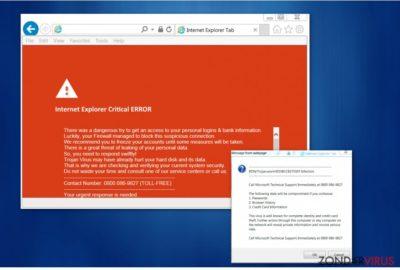 "Het ""Internet Explorer Critical ERROR""-virus"