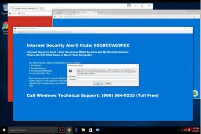 """Pop-ups van het """"Internet Security Alert""""-virus"""