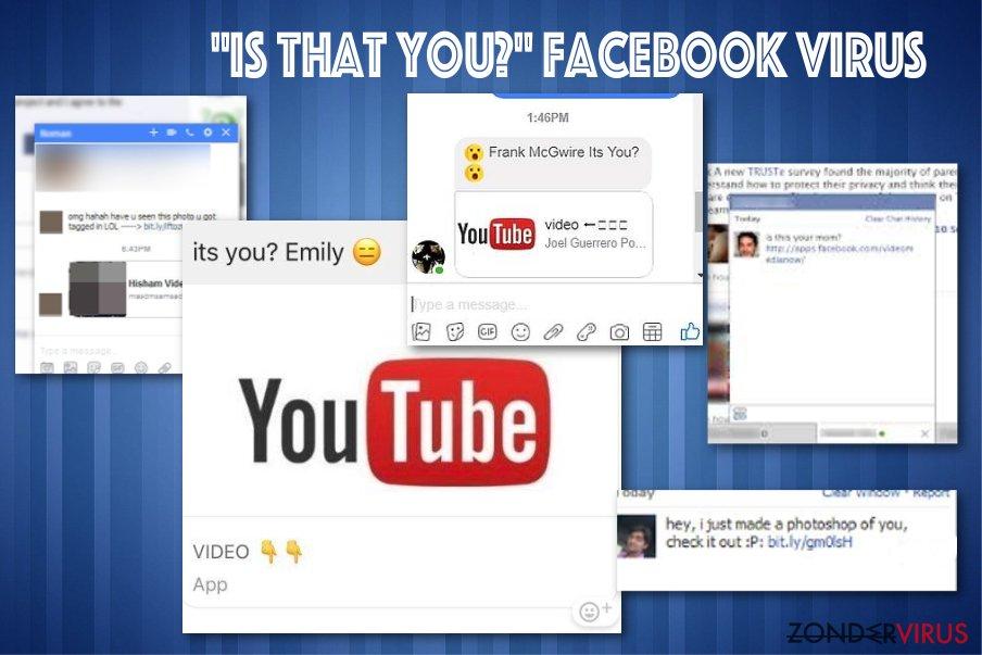 """Het """"Is that you"""" Facebook virus snapshot"""
