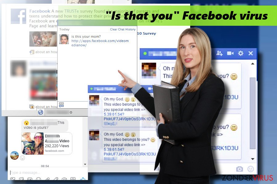"Het ""Is that you"" Facebook virus afbeelding"