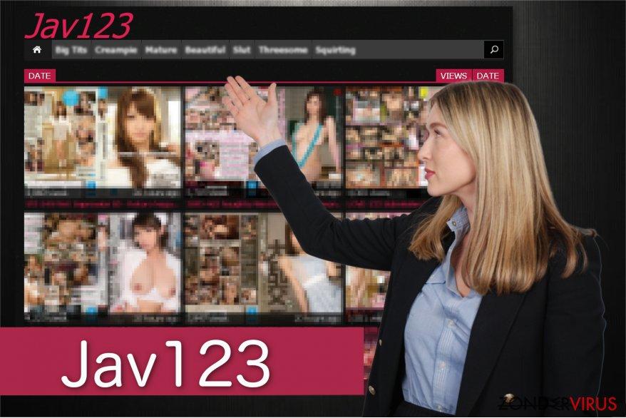 Screenshot van een omleiding door Jav123