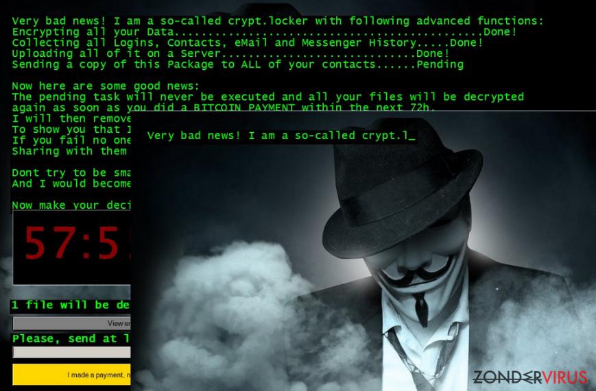 Jigsaw ransomware virus snapshot