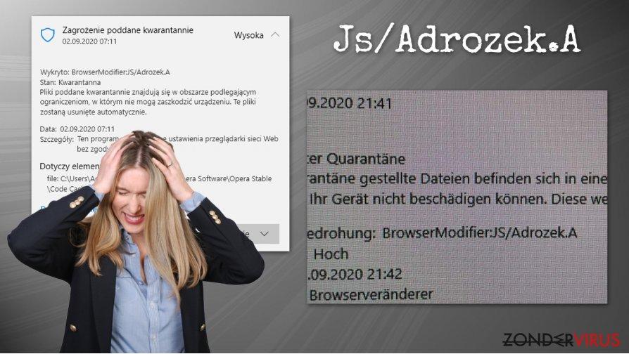 Het Js/Adrozek.A-virus