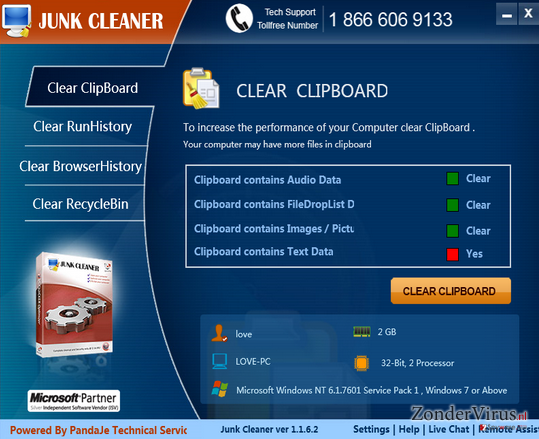 Junk Cleaner snapshot