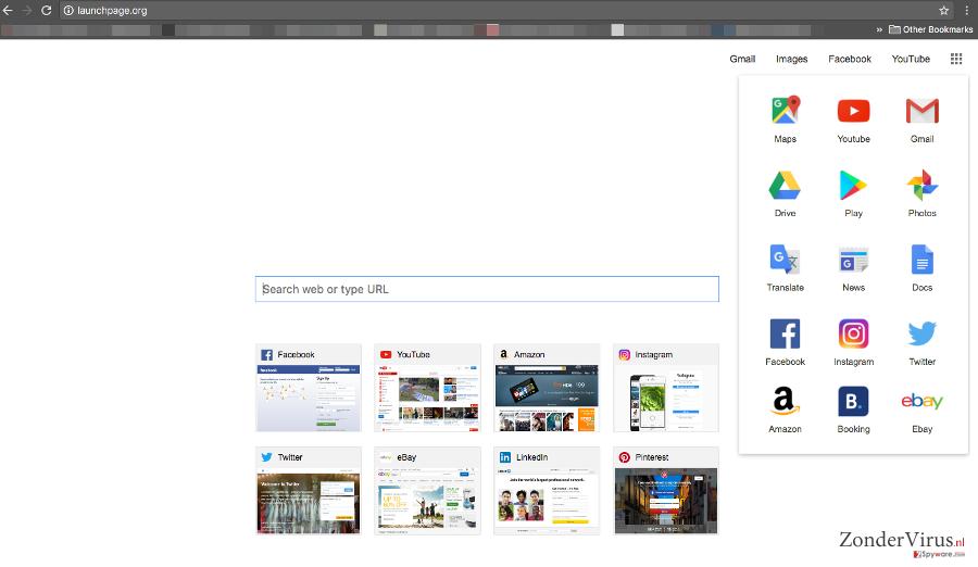 Launchpage.org virus snapshot