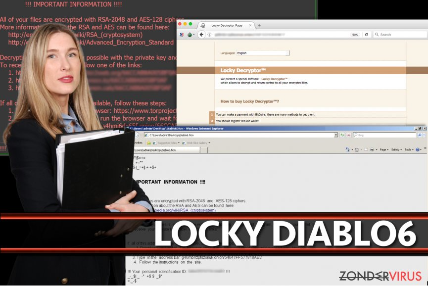 Het  Locky Diablo6 virus