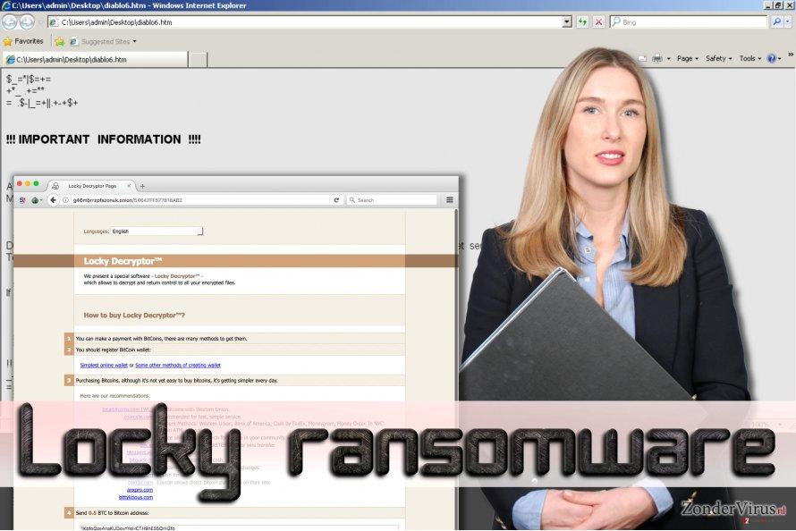 Locky ransomware snapshot