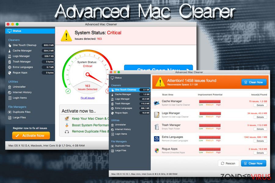 Mac virus Advanced Mac Cleaner