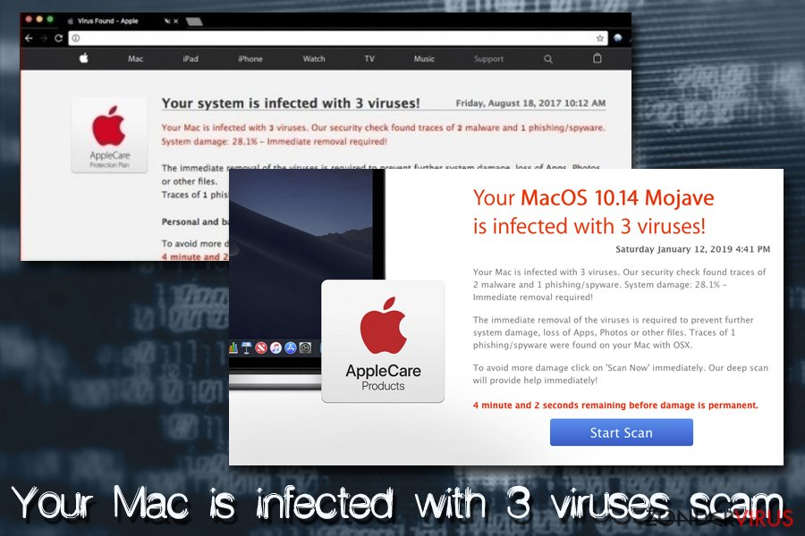 Mac virus - Your Mac is infected with 3 viruses
