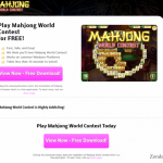 Mahjong World Contest advertenties snapshot