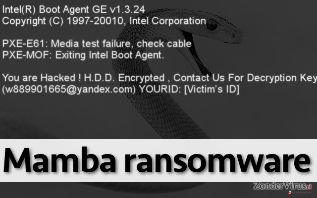 Mamba ransomware lock screen
