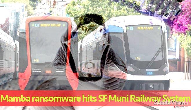 Het stedelijke vervoerssysteem getroffen door een aanval van de Mamba-gijzelsoftware