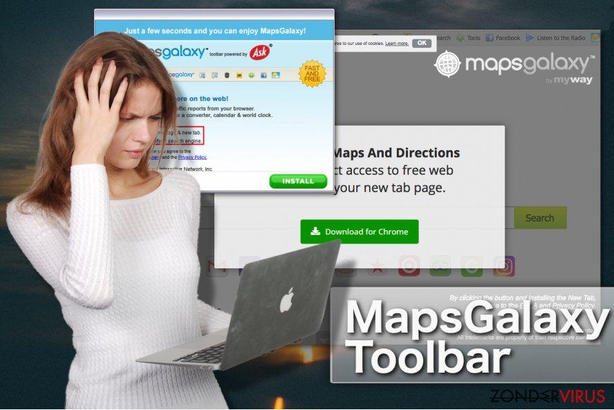 MapsGalaxy werkbalk snapshot