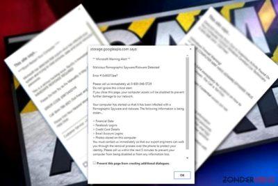 Voorbeeld van Microsoft warning Alert