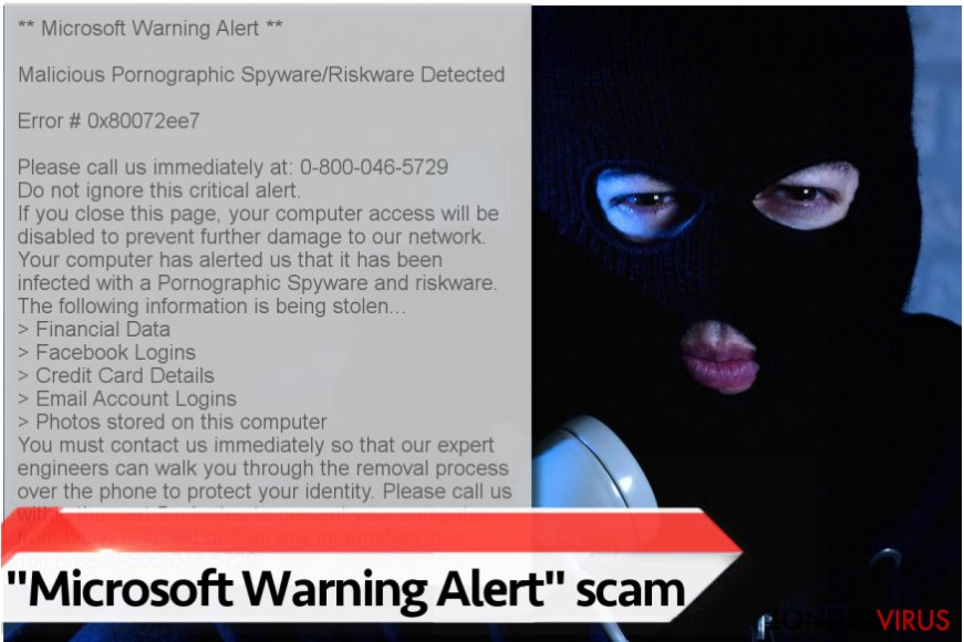 "Het ""Microsoft Warning Alert"" virus"