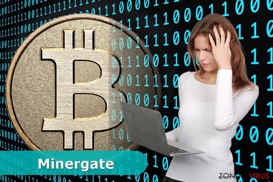 Voorbeeld van het Minergate virus