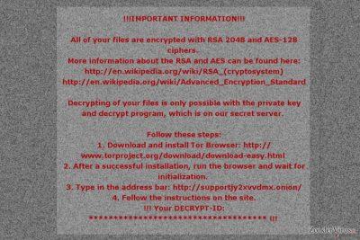De losgeldbrief van het Mole02-gijzelsoftware-virus
