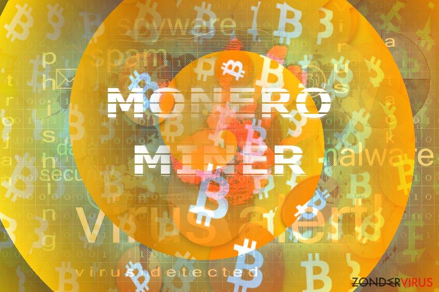 De foto illustreert het concept van de Monero Miner