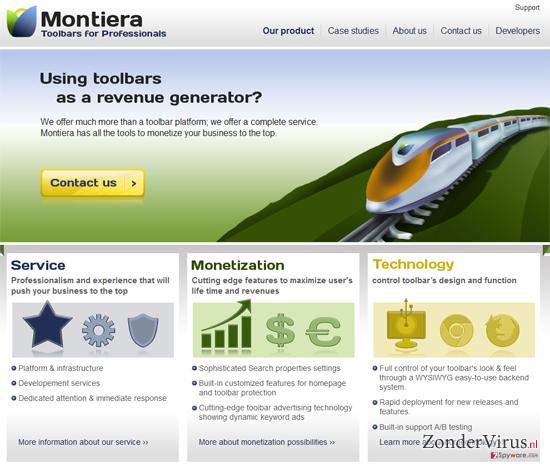 Montiera Toolbar snapshot