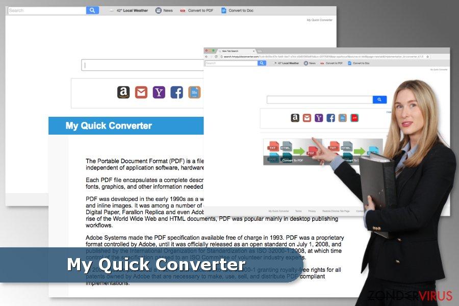 Voorbeeld van het My Quick Converter-virus