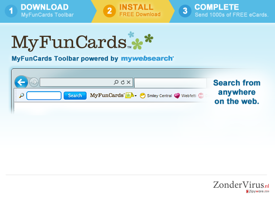 MyFunCards Toolbar snapshot