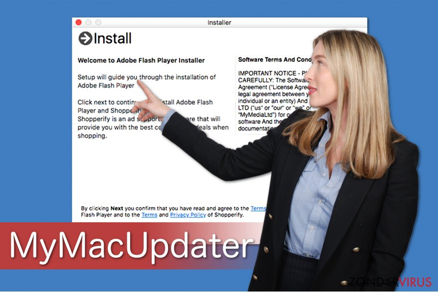 MyMacUpdater-illustratie die laat zien hoe het is gebundeld met freeware
