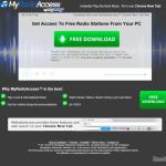 MyRadioAccess Werkbalk snapshot