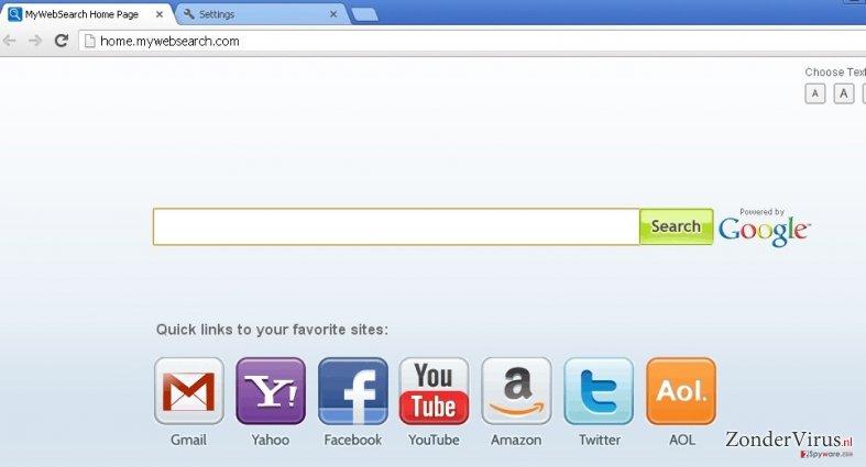 mywebsearch.com snapshot