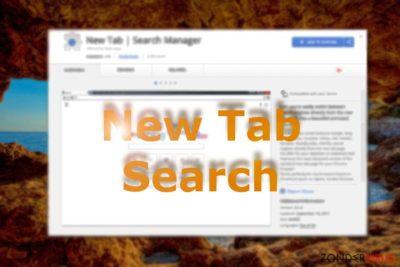 Afbeelding die New Tab Search weergeeft in de Chrome webwinkel