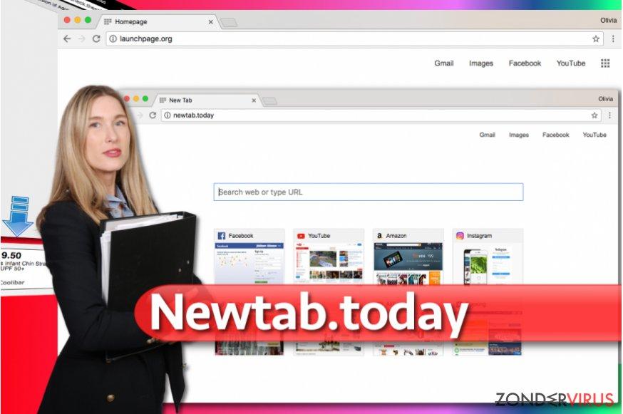 Afbeelding van het Newtab.today-omleidvirus