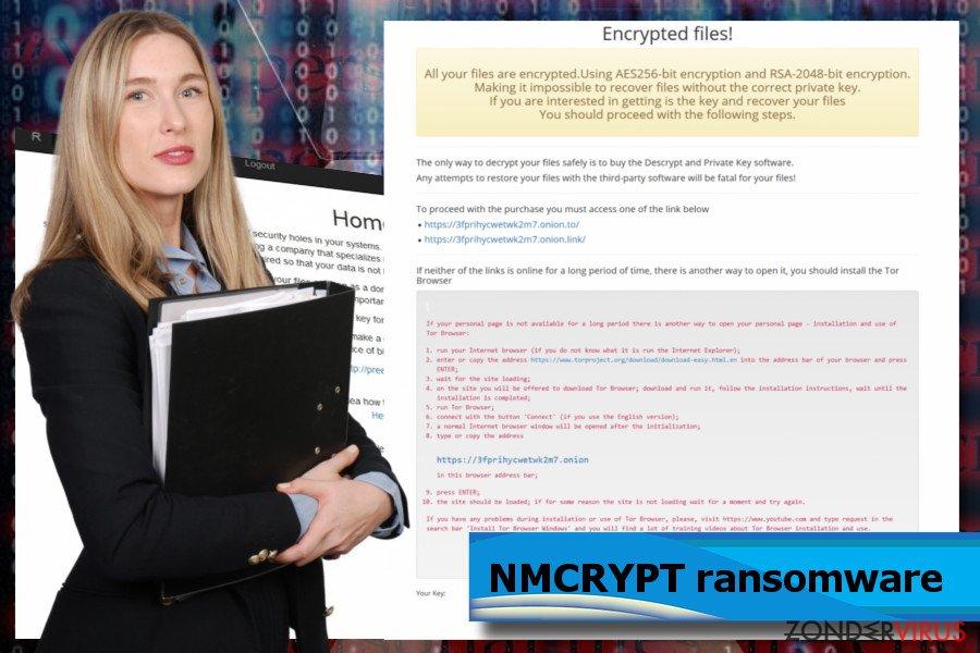 NMCRYPT ransomware schermafbeeldingen