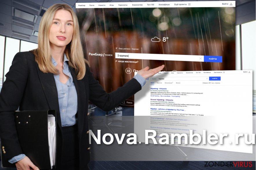 De uiterlijke verschijning van Nova Rambler