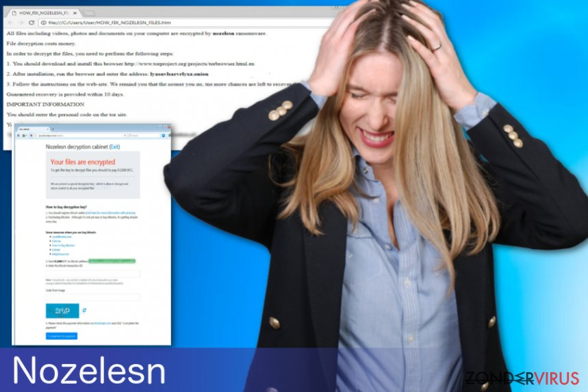 De Nozelesn ransomware